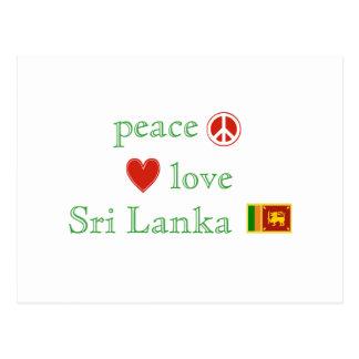 Carte Postale Amour et le Sri Lanka de paix