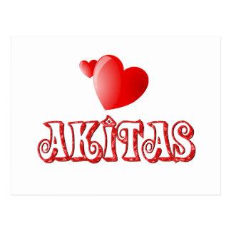 Carte Postale Amour pour Akitas