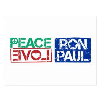Carte Postale amour Ron Paul de paix