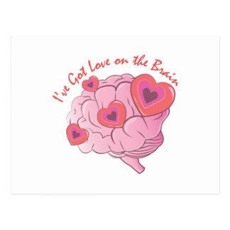 Carte Postale Amour sur le cerveau