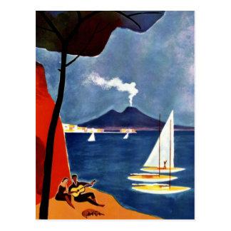 Carte Postale Amour vintage de voyage de Napoli Romance
