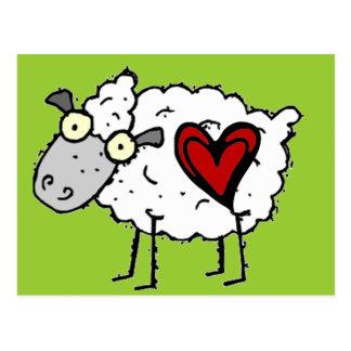 Carte Postale Amoureux de plouc - amour de moutons