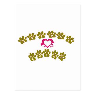 Carte Postale amoureux des animaux