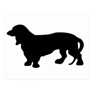 Carte Postale Amoureux des chiens de teckel