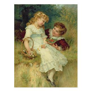 Carte Postale Amoureux, des poires Annual, 1905