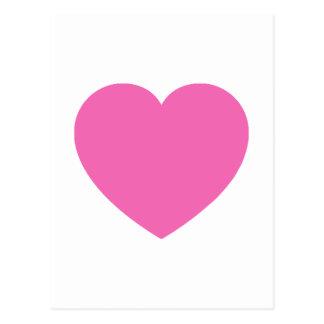 Carte Postale Amoureux rose simple