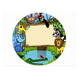 Carte Postale Amusement avec des animaux