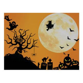 Carte Postale Amusement éffrayant de Halloween