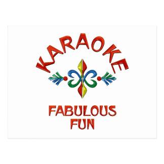 Carte Postale Amusement fabuleux de karaoke