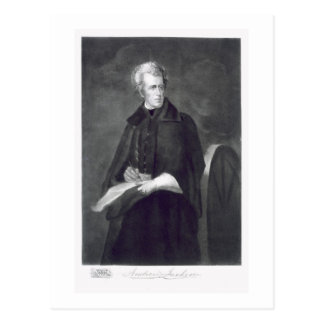 Carte Postale Andrew Jackson, 7ème Président des États-Unis
