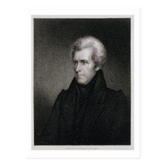Carte Postale Andrew Jackson (gravure)