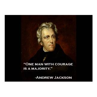 Carte Postale Andrew_Jackson par citation Sully sur le courage