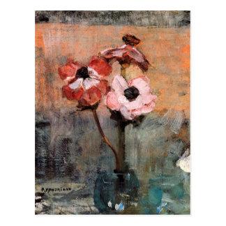 Carte Postale Anémones dans un vase | Piet Mondrian