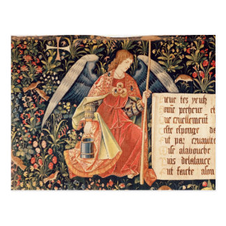 Carte Postale Ange avec une éponge fixée à une tige