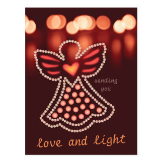 Carte Postale Ange compatissant CC0125 d'amour et de lumière