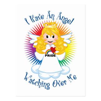 Carte Postale Ange observant au-dessus de moi LGBTQ