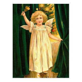 Carte Postale Ange vintage de Noël