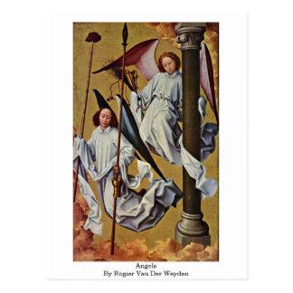 Carte Postale Anges par Rogier van der Weyden