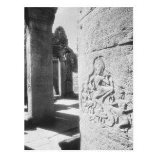 Carte Postale Angkor Cambodge, Apsara découpant le Bayon 2