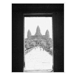 Carte Postale Angkor vue de porte de Cambodge, Angkor Vat
