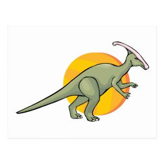 Carte Postale Animal jurassique d'art de Reptilia de dinosaures