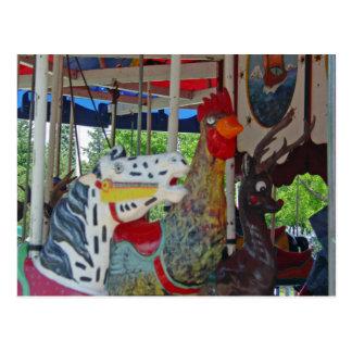 Carte Postale Animaux antiques de carrousel