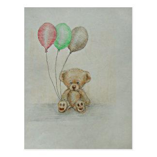 Carte Postale anniversaire d'ours de nounours