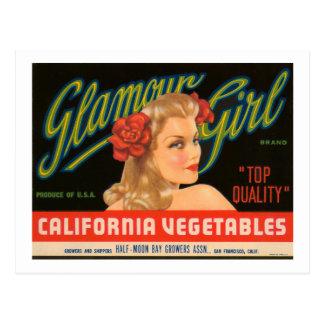 Carte Postale Annonce de cru de légumes de la Californie de