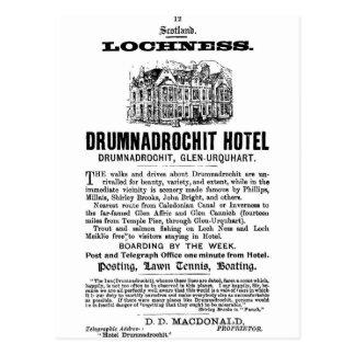 Carte Postale Annonce-Ecosse-Loch Ness-Drumnadrochit-Hôtel