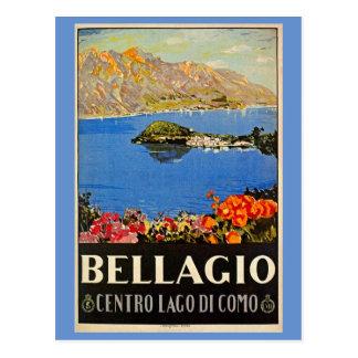 Carte Postale Annonce italienne de voyage de Bellagio des années