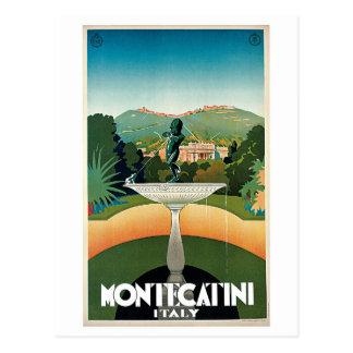 Carte Postale Annonce italienne vintage de voyage de Montecatini