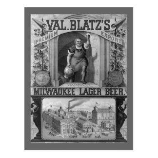Carte Postale Annonce vintage de bière