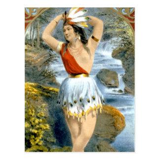 Carte Postale Annonce vintage de Natif américain de Pocahontas