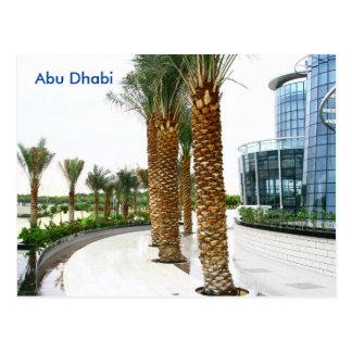 Carte Postale Annonce vintage de tourisme de voyage d'Abu Dhabi