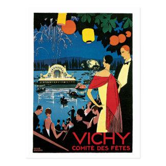 Carte Postale Annonce vintage de voyage de Français de Vichy des