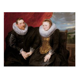 Carte Postale Anthony van Dyck - un ménage marié