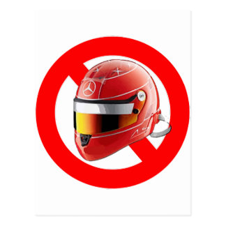 Carte Postale Anti chemise de fille de Schumacher avec le logo