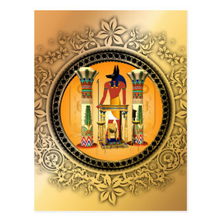 Carte Postale Anubis, Egypte