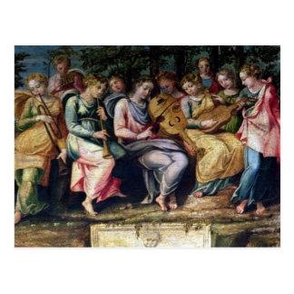 Carte Postale Apollo et les Muses, 1600