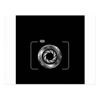 Carte Postale Appareil photo numérique avec l'ouverture argentée