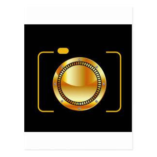 Carte Postale Appareil photo numérique avec une ouverture d'or
