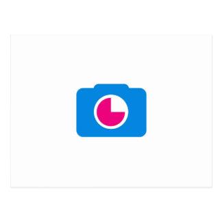Carte Postale Appareil photo numérique bleu