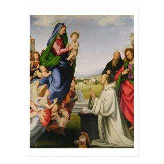 Carte Postale Apparition de la Vierge à St Bernard, 1504-07 (