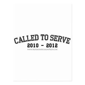 Carte Postale Appelé pour servir 2010 - 2012