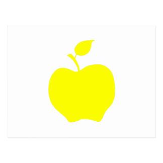 Carte Postale Apple jaune forment