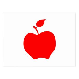 Carte Postale Apple rouge