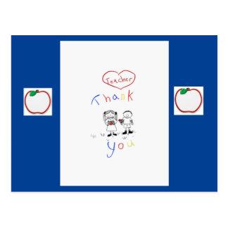 Carte Postale Appréciation de professeur
