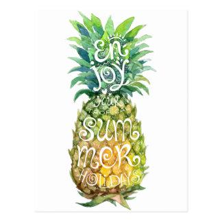 Carte Postale Appréciez vos vacances d'été tropicales