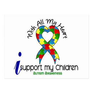 Carte Postale Appui de l'autisme I mes enfants