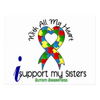 Carte Postale Appui de l'autisme I mes soeurs
